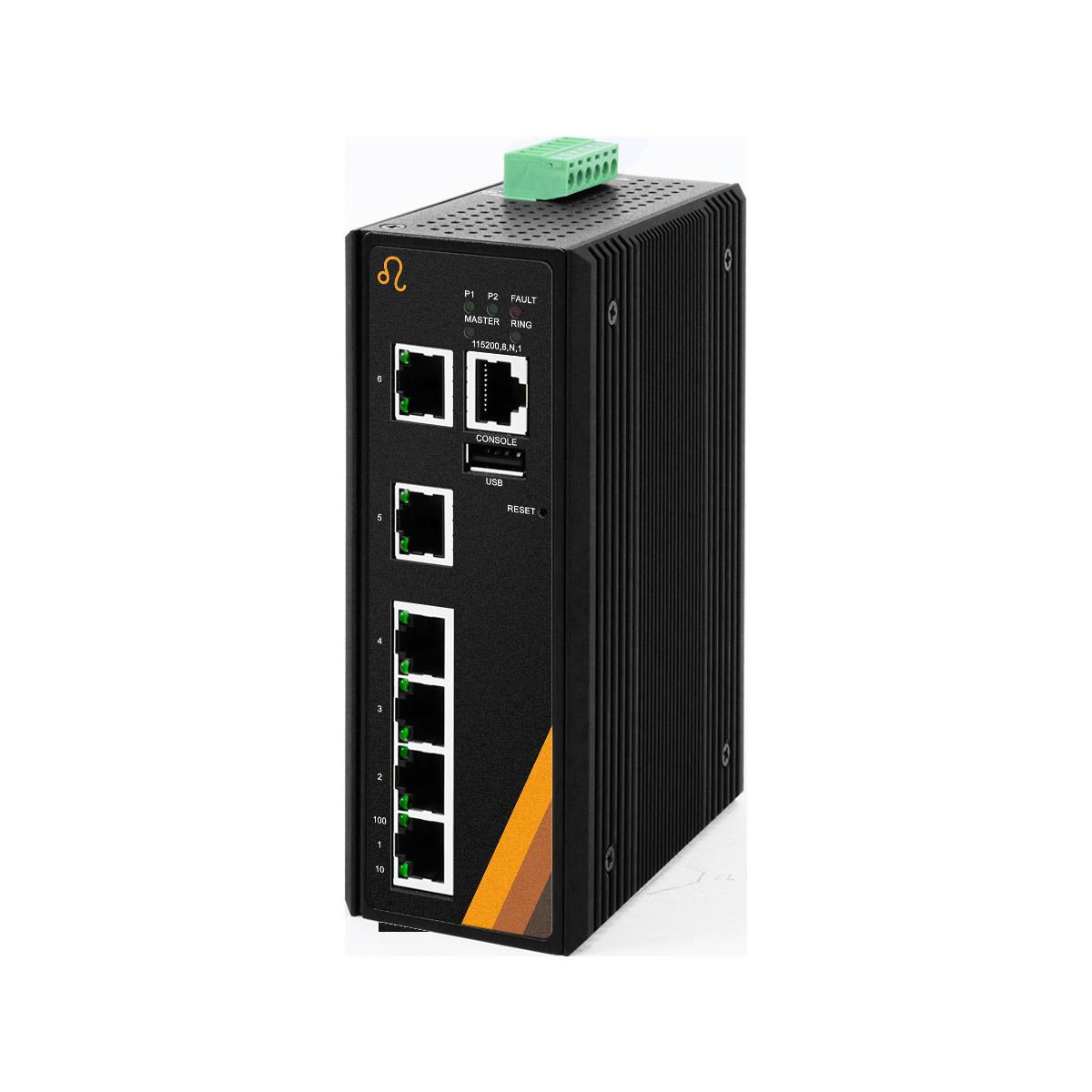 6-Port Industrial Managed Ethernet Switch - 6*10/100Tx-ET5