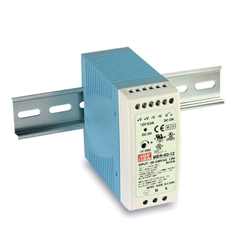 60W Industrial DIN Rail Power Supply - 24VDC/2 5A, Universal